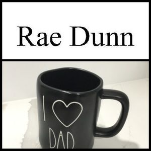 Rae Dunn I ❤️ DAD Black Mug NEW